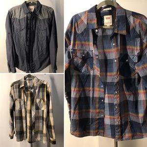 Men's Levi's Button-down shirt bundle Sz Med